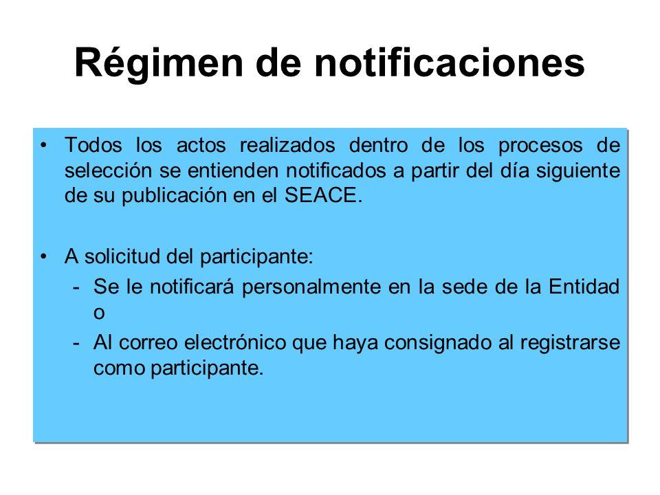 Régimen de notificaciones