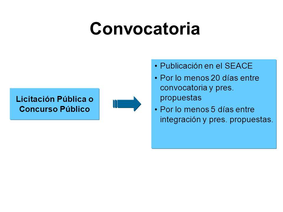 Licitación Pública o Concurso Público