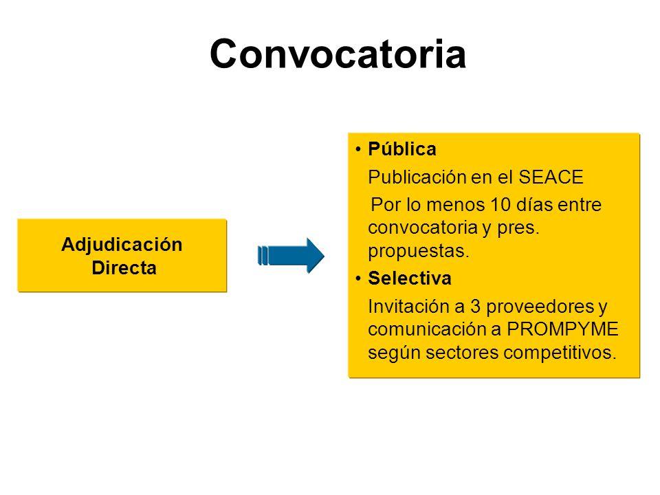 Convocatoria Pública Publicación en el SEACE