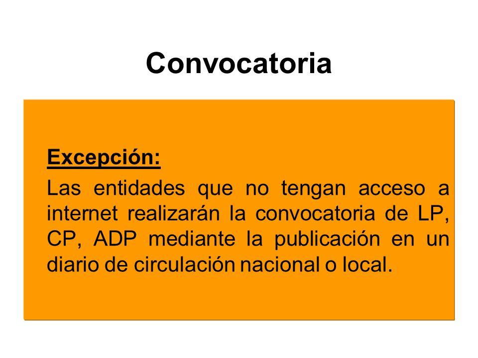 Convocatoria Excepción: