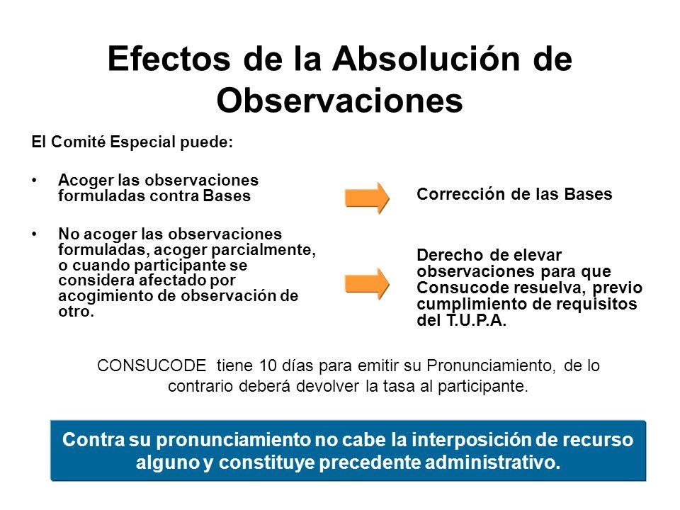 Efectos de la Absolución de Observaciones