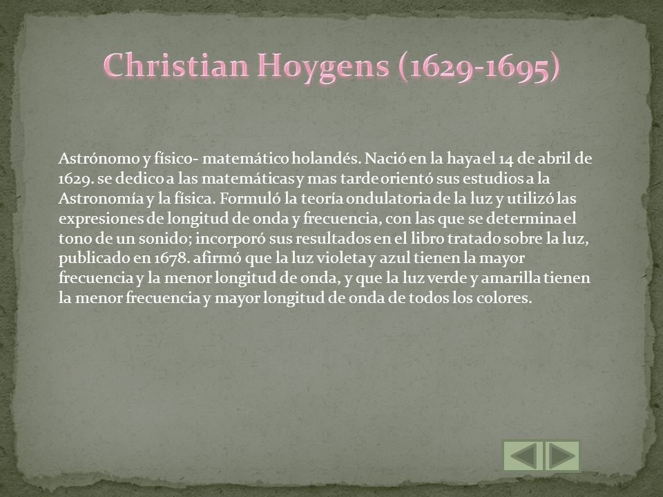 Christian Hoygens (1629-1695)