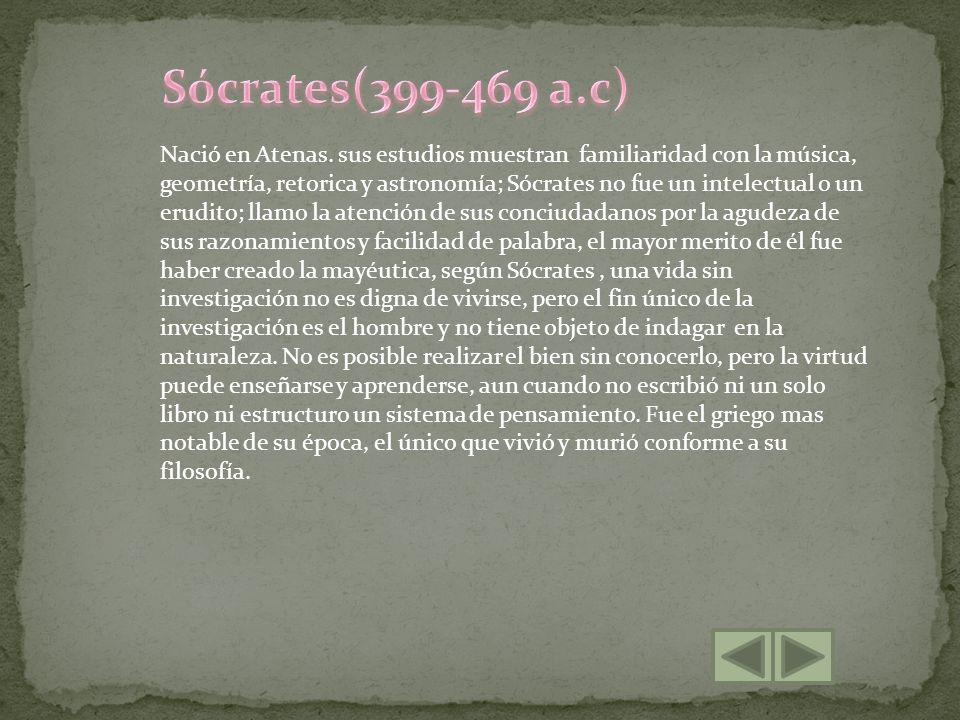 Sócrates(399-469 a.c)