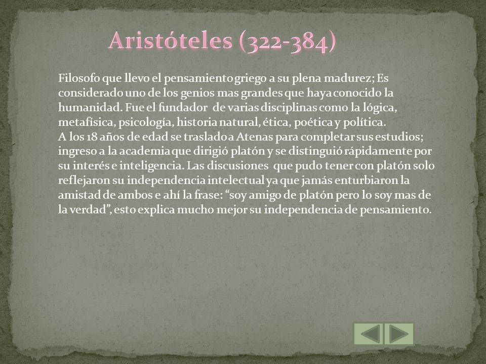 Aristóteles (322-384)