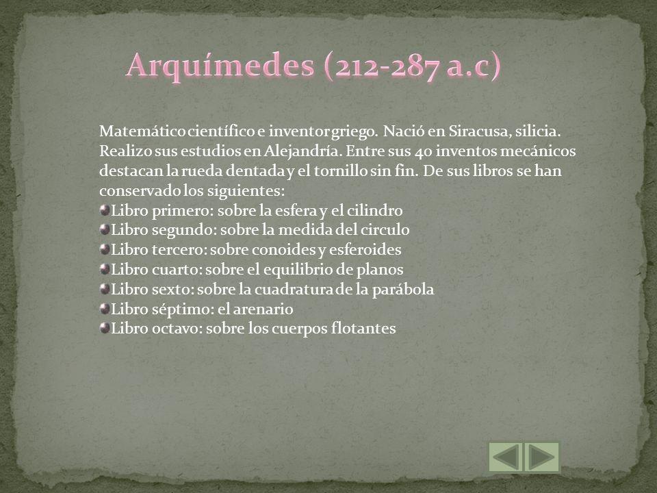 Arquímedes (212-287 a.c)