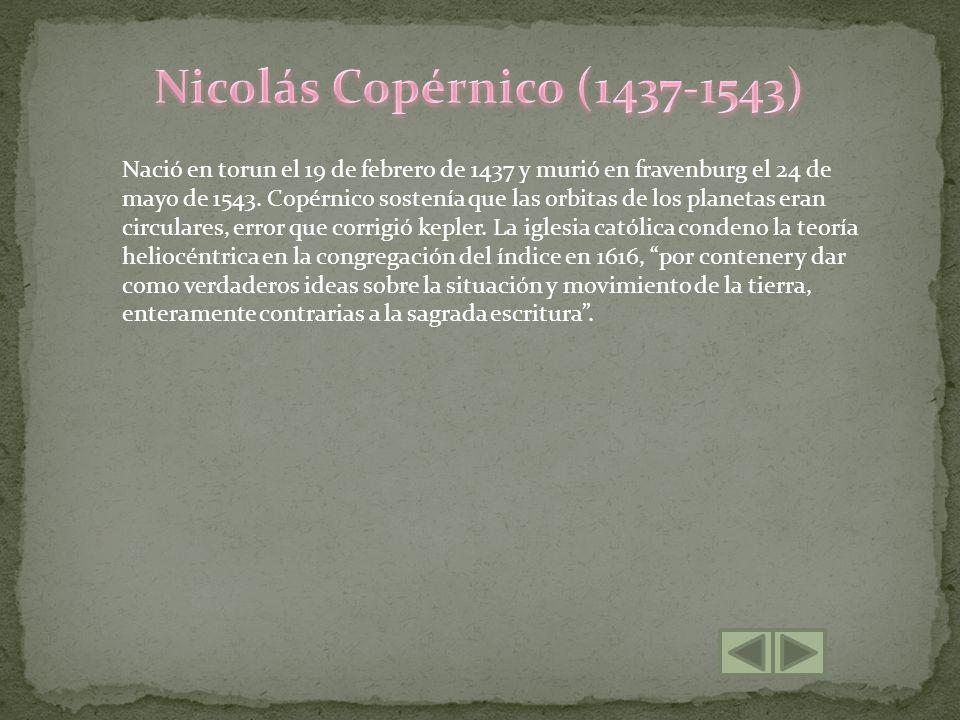 Nicolás Copérnico (1437-1543)