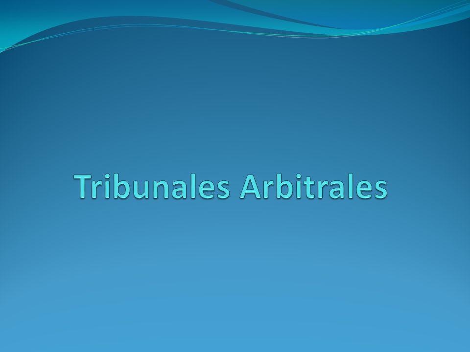 Tribunales Arbitrales