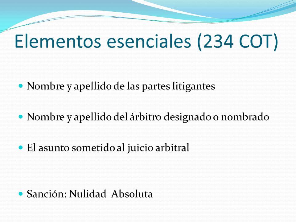 Elementos esenciales (234 COT)