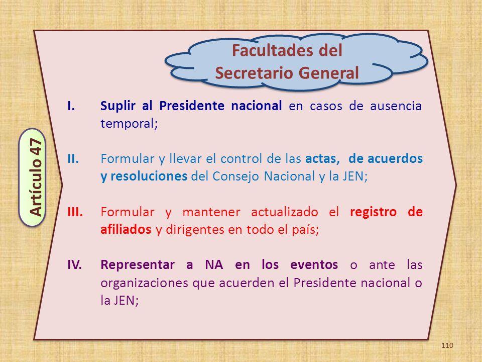 Facultades del Secretario General