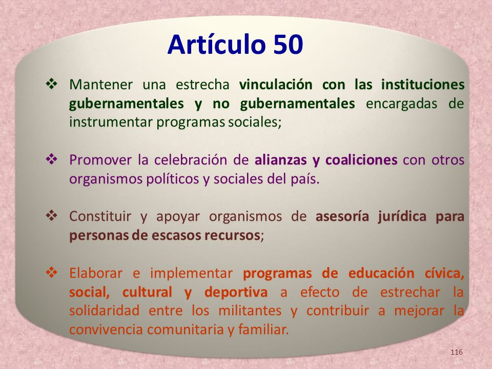 Mantener una estrecha vinculación con las instituciones gubernamentales y no gubernamentales encargadas de instrumentar programas sociales;