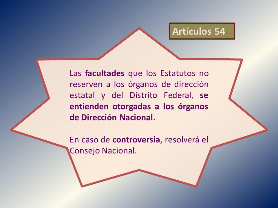 Artículos 54