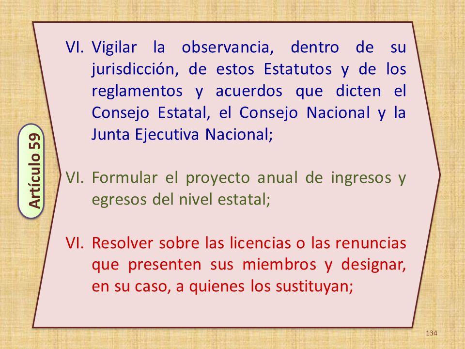 Formular el proyecto anual de ingresos y egresos del nivel estatal;