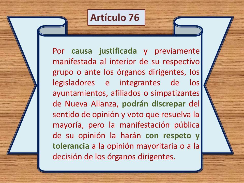 Artículo 76