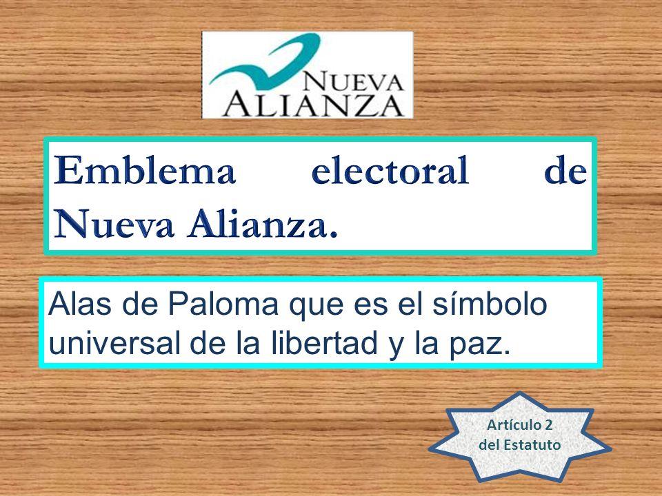 Emblema electoral de Nueva Alianza.