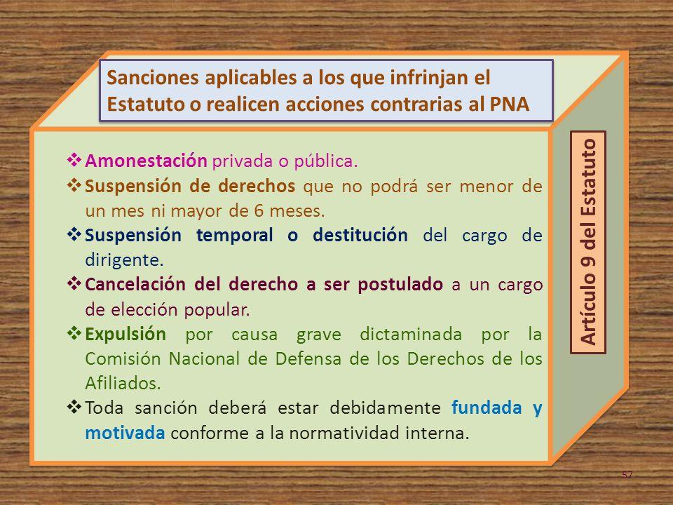 Amonestación privada o pública.