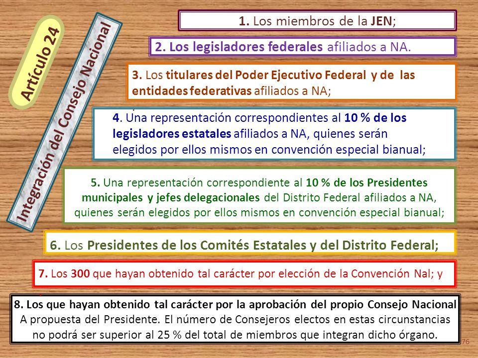 5. Una representación correspondiente al 10 % de los Presidentes
