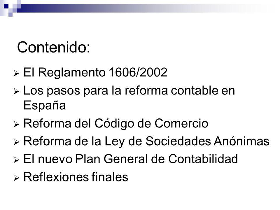 Contenido: El Reglamento 1606/2002