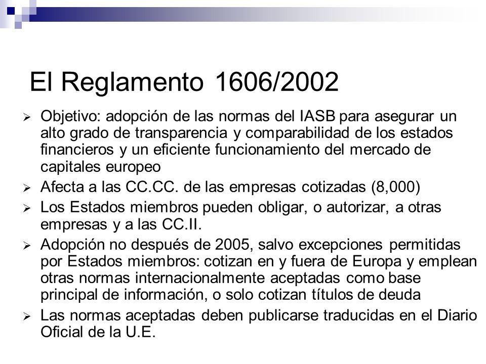 El Reglamento 1606/2002