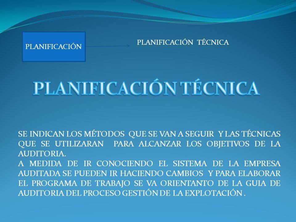 PLANIFICACIÓN TÉCNICA