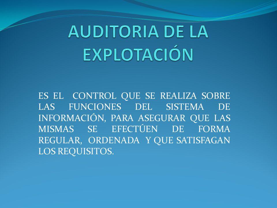 AUDITORIA DE LA EXPLOTACIÓN
