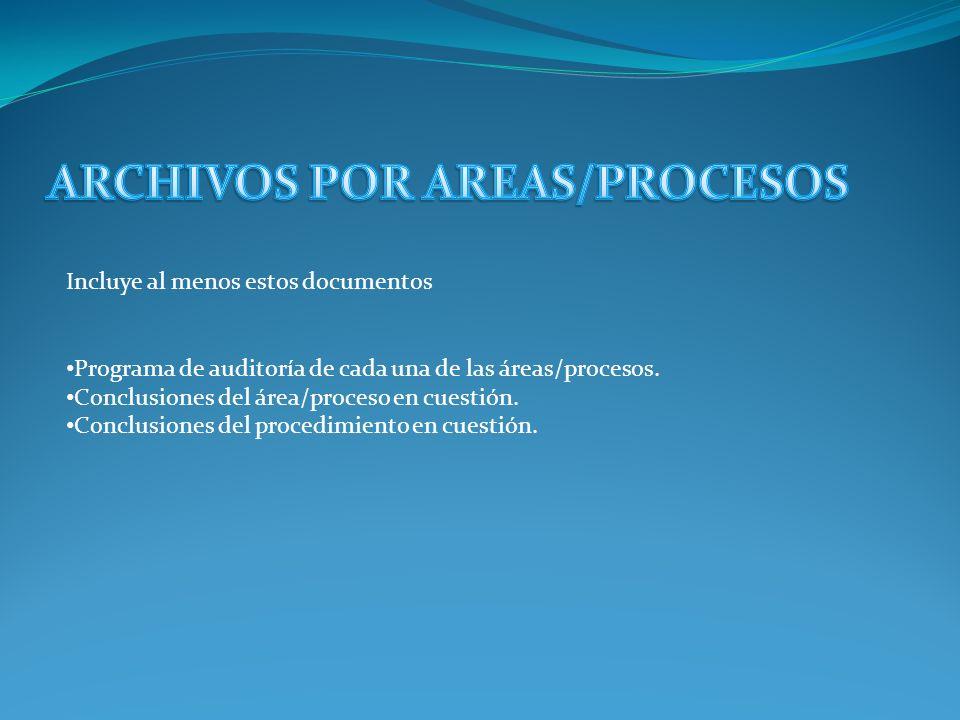 ARCHIVOS POR AREAS/PROCESOS
