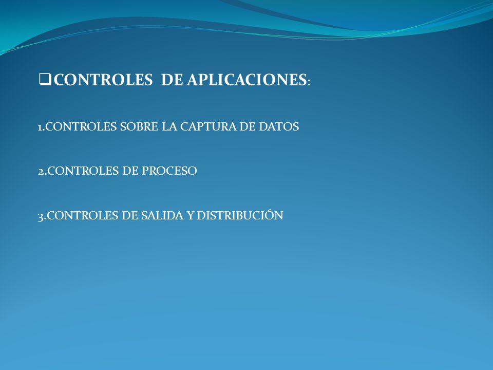 CONTROLES DE APLICACIONES: