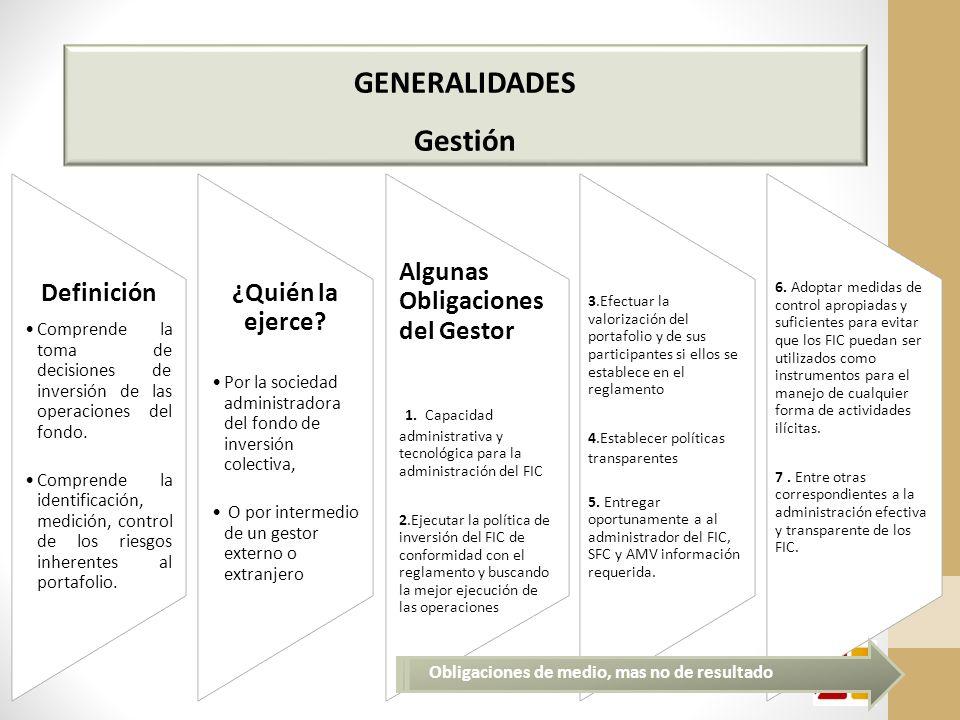 GENERALIDADES Gestión