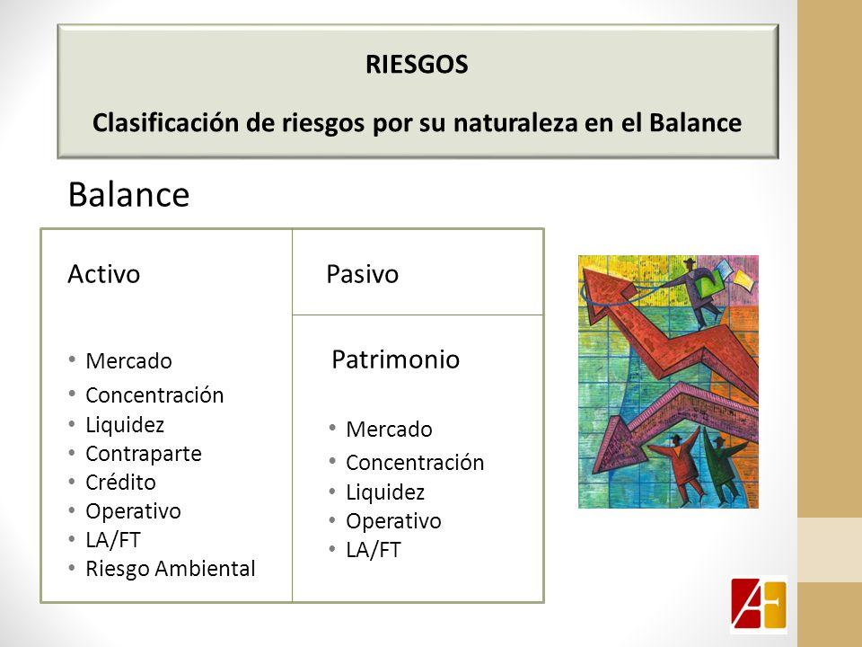 Clasificación de riesgos por su naturaleza en el Balance