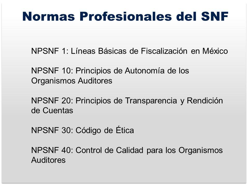 Normas Profesionales del SNF