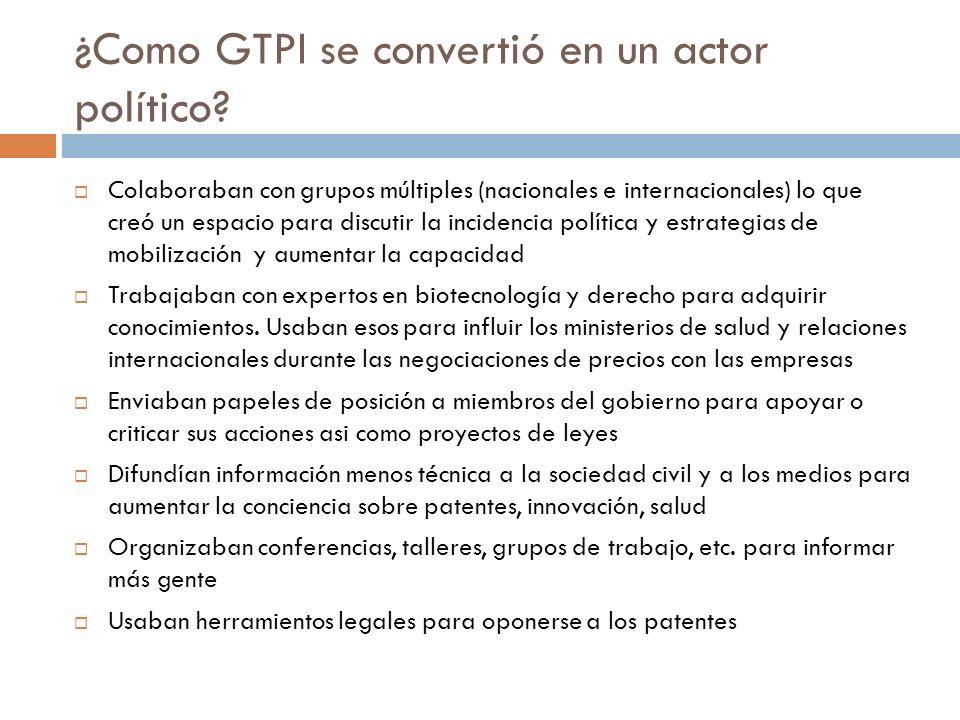 ¿Como GTPI se convertió en un actor político