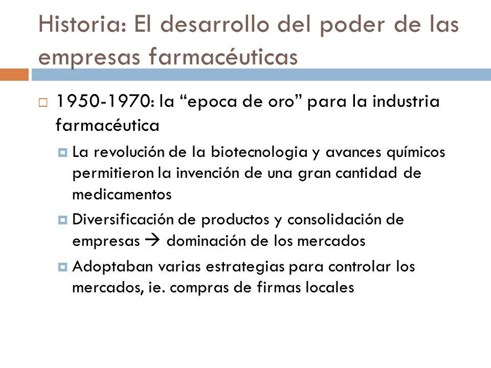 Historia: El desarrollo del poder de las empresas farmacéuticas