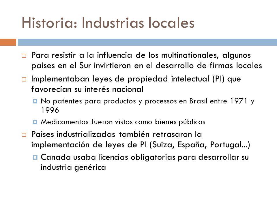 Historia: Industrias locales