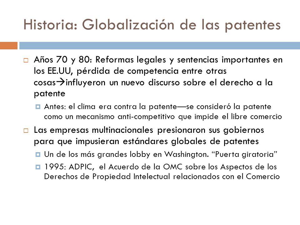 Historia: Globalización de las patentes
