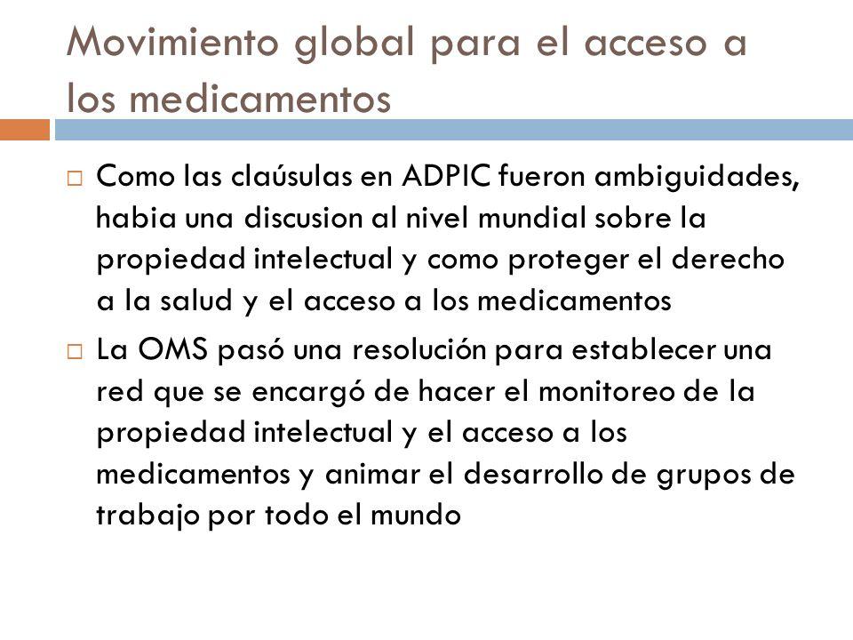 Movimiento global para el acceso a los medicamentos