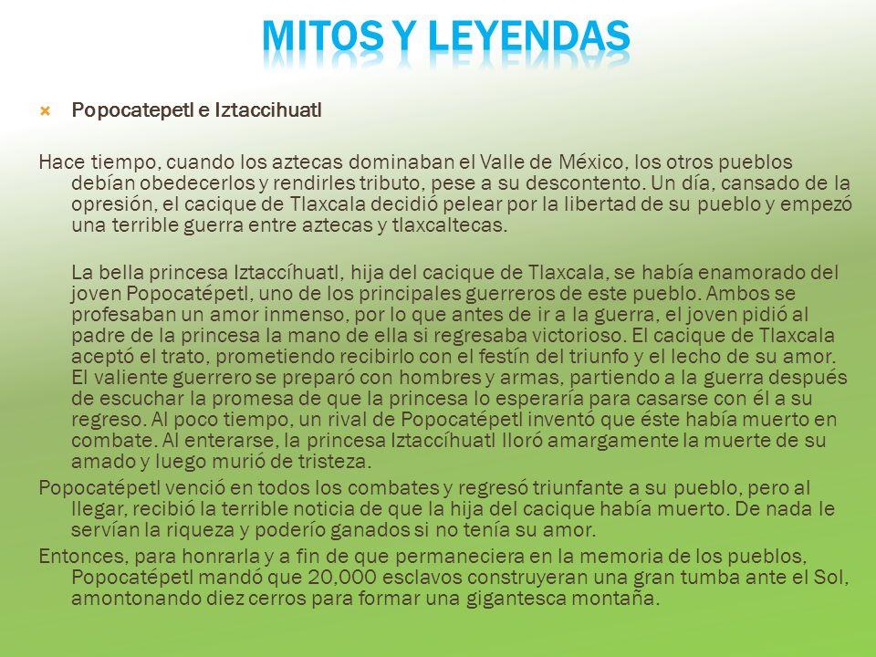 Mitos y leyendas Popocatepetl e Iztaccihuatl
