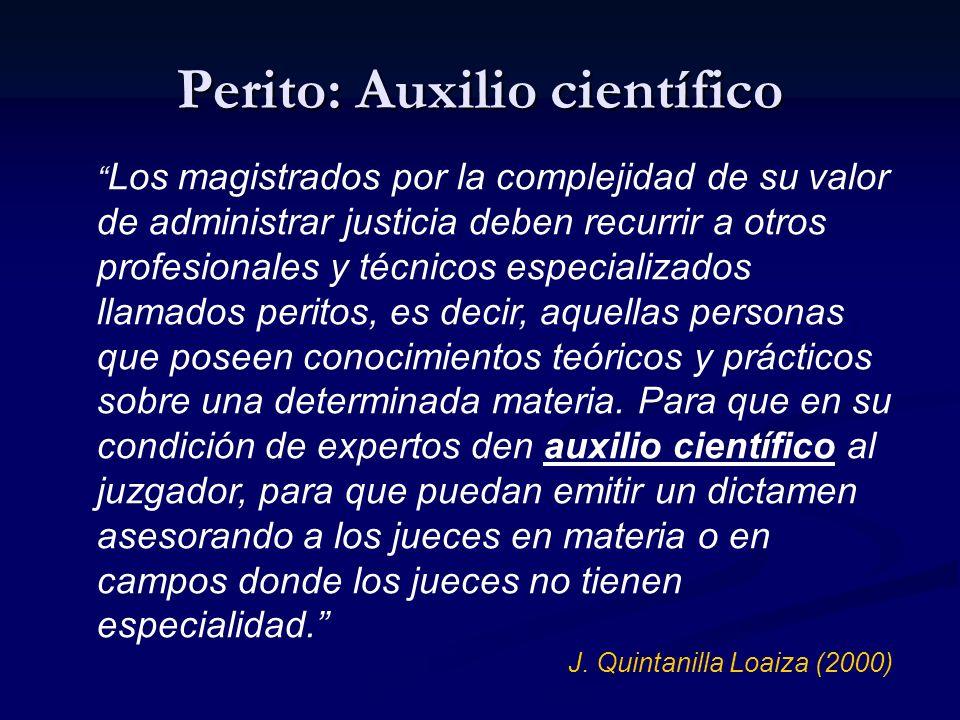 Perito: Auxilio científico