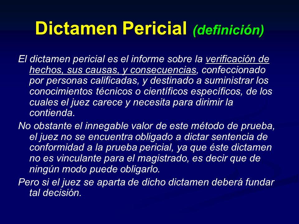 Dictamen Pericial (definición)