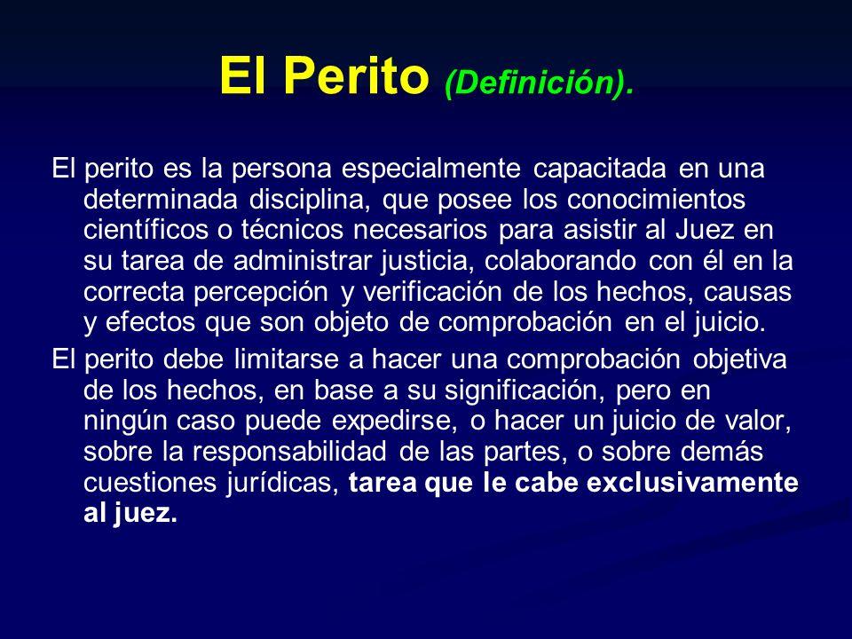 El Perito (Definición).