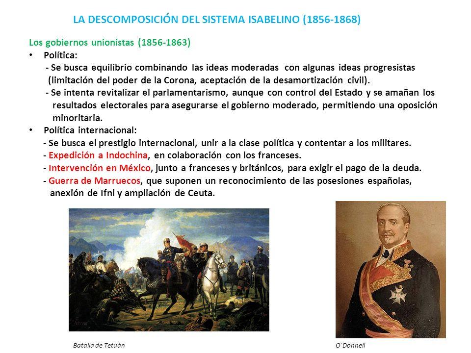 LA DESCOMPOSICIÓN DEL SISTEMA ISABELINO (1856-1868)