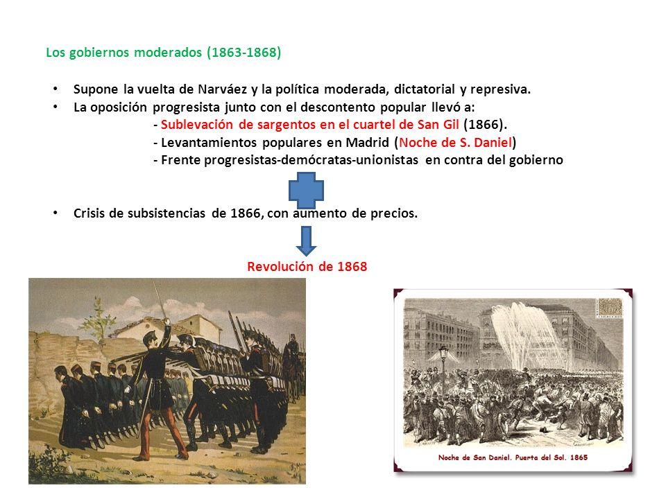 Los gobiernos moderados (1863-1868)