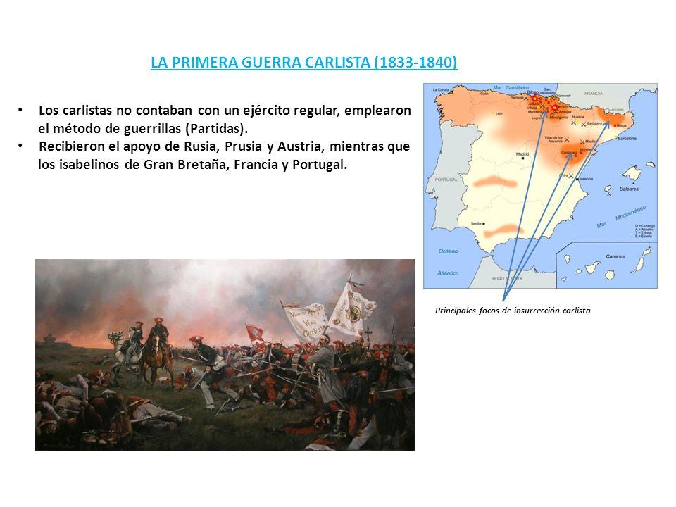 LA PRIMERA GUERRA CARLISTA (1833-1840)