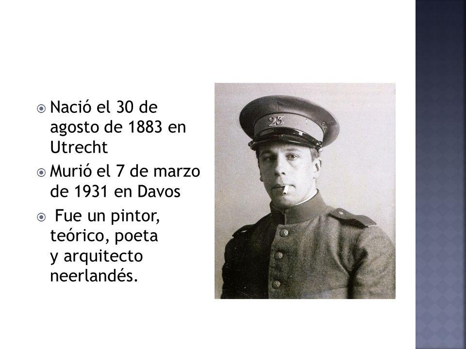 Nació el 30 de agosto de 1883 en Utrecht