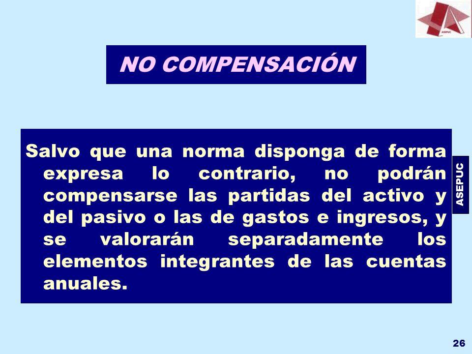 NO COMPENSACIÓN