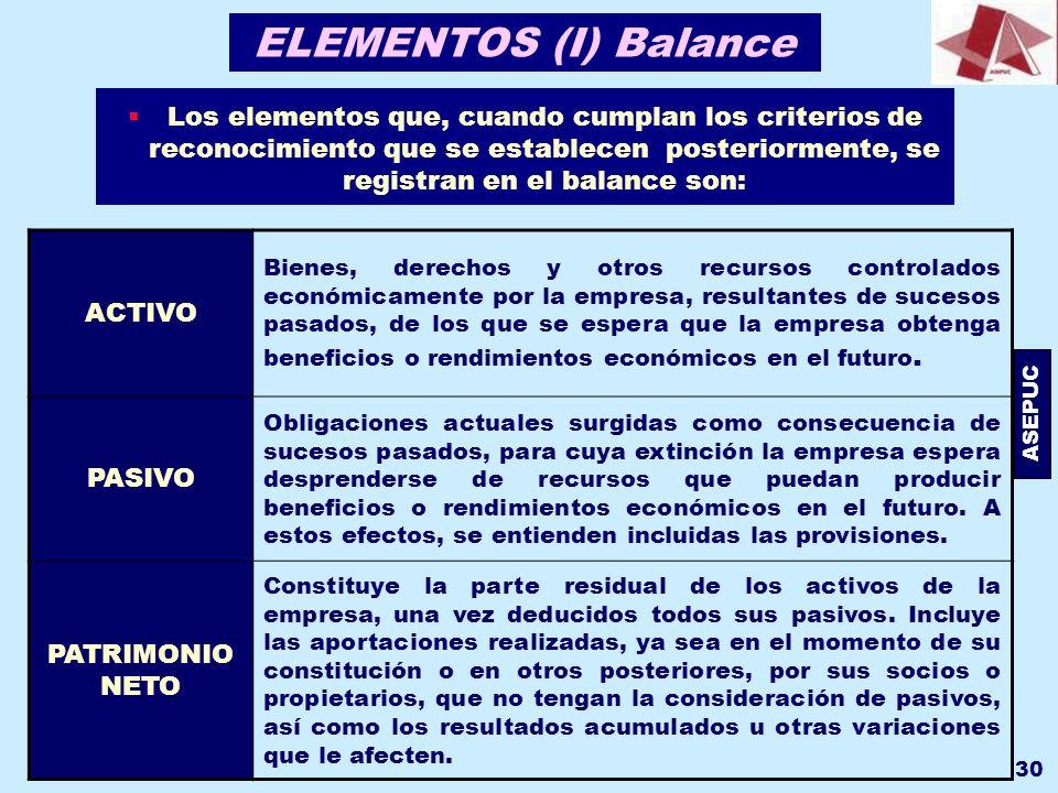ELEMENTOS (I) Balance