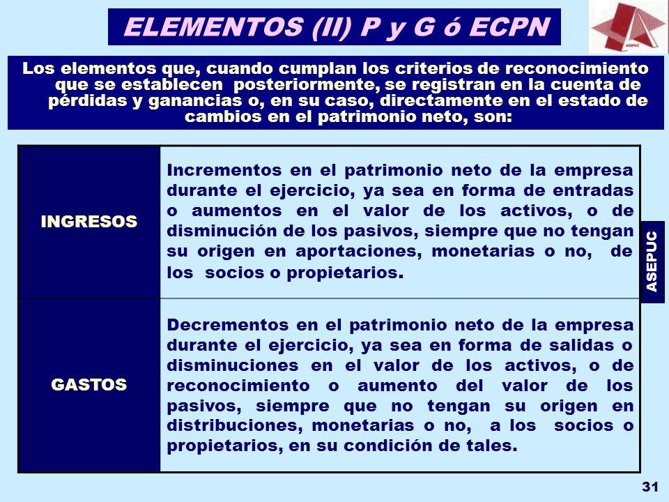 ELEMENTOS (II) P y G ó ECPN