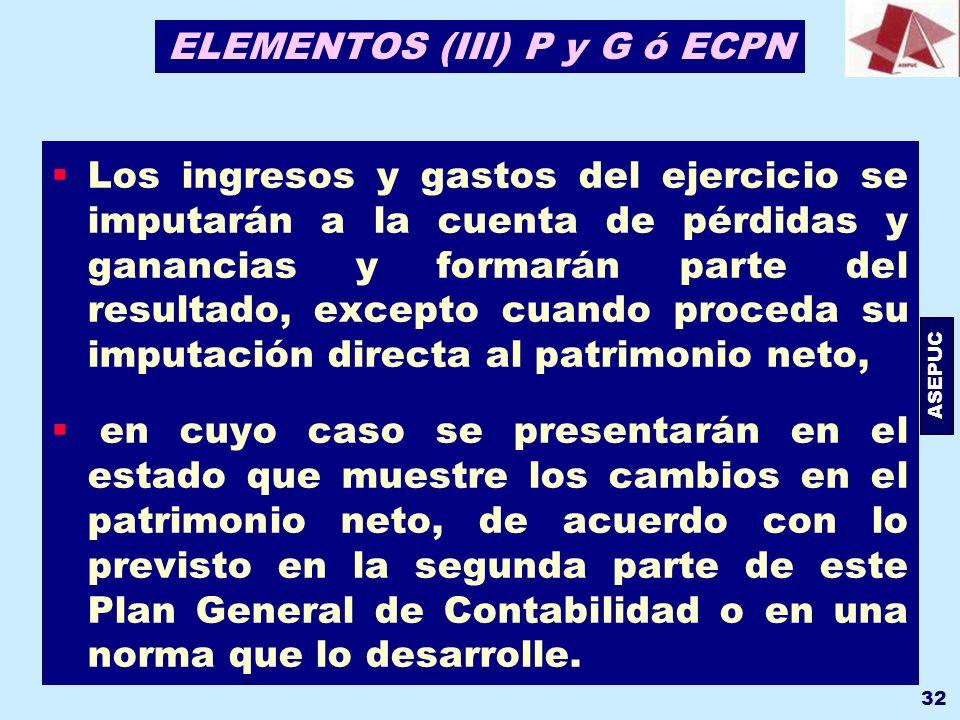 ELEMENTOS (III) P y G ó ECPN