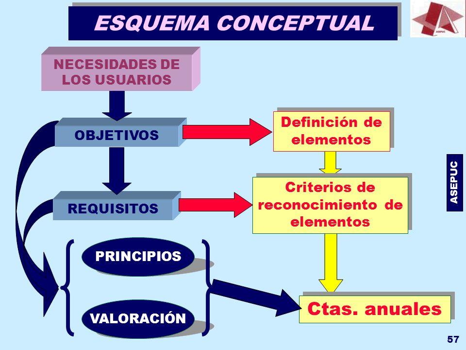 ESQUEMA CONCEPTUAL Ctas. anuales Definición de elementos