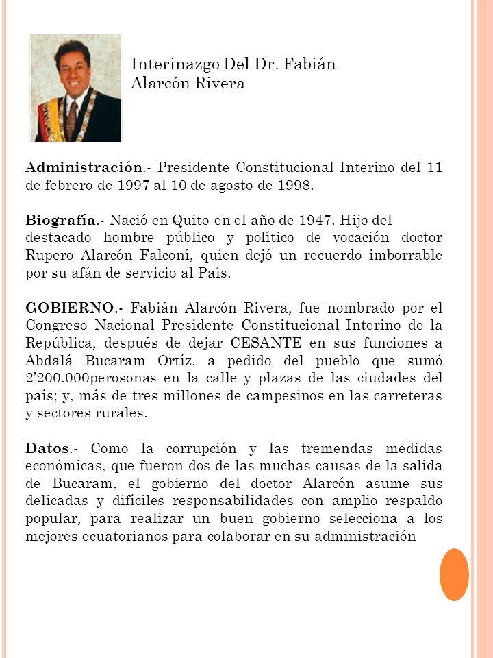 Interinazgo Del Dr. Fabián Alarcón Rivera