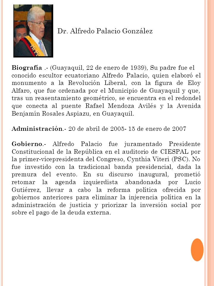 Dr. Alfredo Palacio González