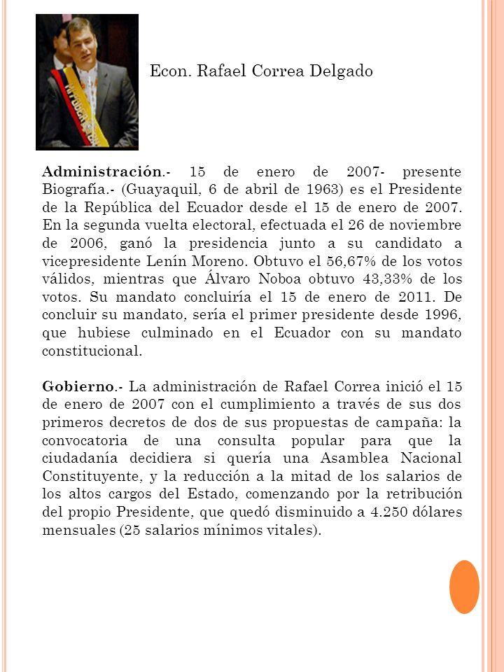 Econ. Rafael Correa Delgado